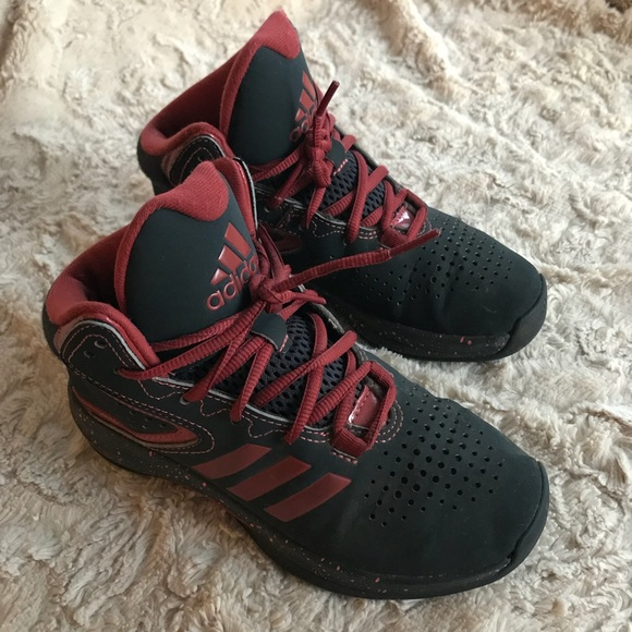 36e21 a773a Adidas kids Hightop CharcoalBurgundy Sneakers buy best ... 9062d268c4